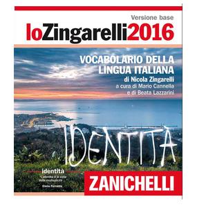 Copertina dizionario Zanichelli Lo Zingarelli 2016